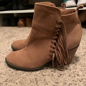 Rampage Fringe Booties Size 8.5